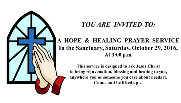 A Hope & Healing Prayer Service